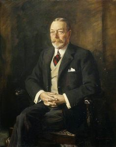 "King George V (George Frederick Ernest Albert) Jun Jan UK by Oswald Hornby Joseph Birley in Child of King Edward VII (Albert Edward) UK & wife Princess Alexandra Denmark. Husband 1893 of Princess Mary ""May"" May Mar Teck, Germany. Local Painters, Victoria Reign, Victorian Life, King Edward Vii, Queen Mary, Art Uk, British Monarchy, King George, Medieval Fantasy"