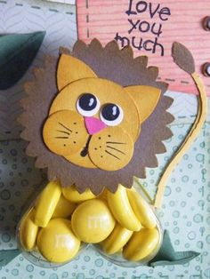 LION sweet treat cups - punch art - bjl