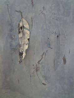 Leaves IV, monoprint