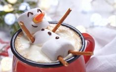 Find Red mug with hot chocolate with melted marshmallow snowman stock images in HD and millions of other royalty-free stock photos, illustrations and vectors in the Shutterstock collection. Thousands of new, high-quality pictures added every day. Marshmellow Snowman, Melted Snowman, Nutella, Hot Cocoa Bar, Melting Chocolate, Red Chocolate, Good Food, Food And Drink, Recipes