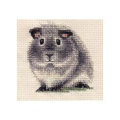 SILVER AGOUTI GUINEA PIG ~ Full counted cross stitch kit
