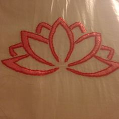 Hand embroidered lotus flower pillow case