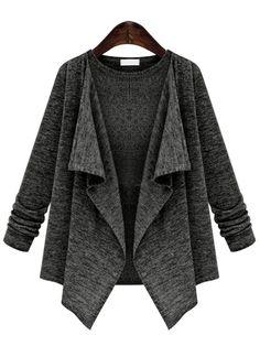 Long Sleeve Drape Front Coat 19.67