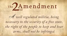 """As a member of both the National Rifle Association and the Tennessee Firearms Association and as a gun owner, I cherish my Second Amendment """"right to...keep and bear arms"""" and, as your state representative, I will do everything in my power on the state-level to ensure that nothing takes place to infringe upon our right to do so."""