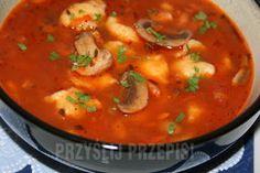 Zupa pieczarkowo - pomidorowa z zacierkami