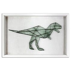 Dinosaur String Framed Wall Art - Pillowfort™