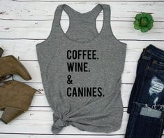Mad Over Shirts Thankful for Dogs Wine and Nothing Else Unisex Premium Tank top