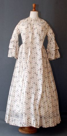 "Sheer wrapper, c. 1860s. I really ""need"" a sheer wrapper. Like the sleeve treatment. Otherwise, it's meh."