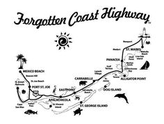 Map of the Forgotten Coast; Florida's Forgotten Coast is a registered trademark (coined in the early 1990s) of the Apalachicola Bay Chamber of Commerce. The name is most commonly used to refer to a relatively quiet, undeveloped section of coastline stretching from Mexico Beach on the Gulf of Mexico to St. Marks on Apalachee Bay in the state of Florida.