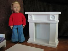 Fireplace Doll Furniture for American Girl or other 18 doll - MAY SHIPPING. $90.00, via Etsy.