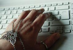Butterfly Slave bracelet, silver color chain ring bracelet, finger hand, slave double ring adjustable bracelet on Etsy, $18.15