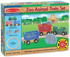 Melissa and Doug Zoo Animal Train Set Kids - All Toys & Games - Macy's Bushcraft Skills, Melissa & Doug, Train Layouts, Train Set, Zoo Animals, Baby Girl Newborn, Games For Kids, Baby Strollers, Baby Kids