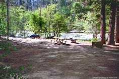 Wawona Campground on Merced River, Yosemite
