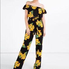 Zara Pants - Floral flowing trousers and printed crop top set