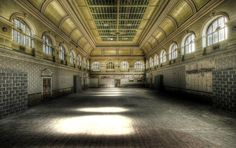 Deserted: The ballroom at West Riding Pauper Lunatic Asylum at High Royds Hospital in West...