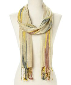 Look what I found on #zulily! Yellow Ikat Fringe Scarf #zulilyfinds