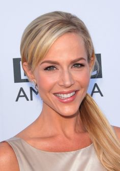 Julie Benz low side ponytail hairstyle