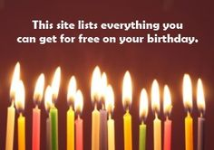 If enjoy freebies, you can enjoy a ton of them on your birthday! Click through to check out the site.  —————————————————————————————————————————————————