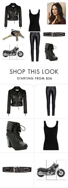 """""""Biker Chick"""" by briannabelle2011 on Polyvore featuring Yves Saint Laurent, Twenty and Avon"""