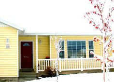 yellow houses with red doors | prescott area daily photo: red