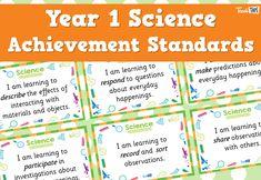 Science Achievement Standards - Yr1