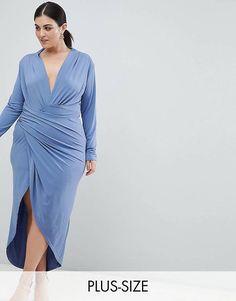 31e355ae3 John Zack Plus Wrap Front Maxi Dress Asos Dress, Maxi Styles, Plus Size  Dresses