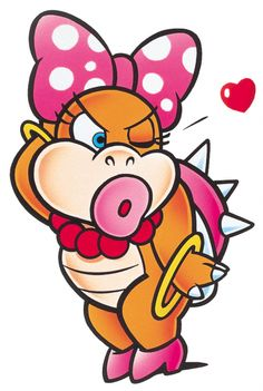 #WendyKoopa from the official artwork set for #SuperMarioWorld on #SNES. #Mario. http://www.superluigibros.com/super-mario-world