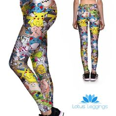 Audrey II Carnivorous Plants Botanical Print Illustration Leggings available in both regular and plus size EznuOkPqTV