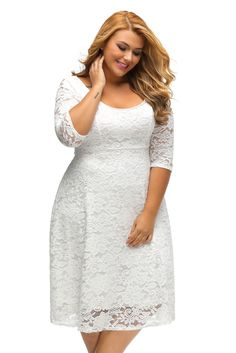 Cheap dress lanterns, Buy Quality dress wine directly from China dress new Suppliers: ONLY YOU Fashion Elegant Large Size Lace Dresses 2017 White Floral Lace Sleeved Fit and Flare Curvy Dress Vestidos Mujer Black Party Dresses, Casual Dresses, Short Dresses, Lace Dresses, Dress Party, Sleeve Dresses, Summer Dresses, Wedding Dresses, Woman Dresses