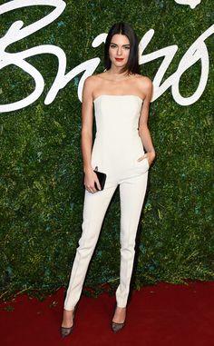 Kendall Jenner looks WHITE HOT at the British Fashion Awards 2014