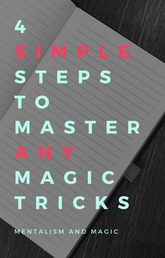 For anyone learning magic tricks, this 4 Simple Steps to Master Any Magic Tricks will speed up your learning process! Learning Process, Magic Shop, Magic Tricks, Simple, The Conjuring