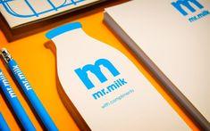 Mr Milk branding