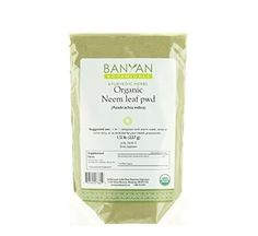 Banyan Botanicals Neem Powder - Certified Organic, 1/2 Pound - Azadirachta indica - Detoxification for pitta and kapha*
