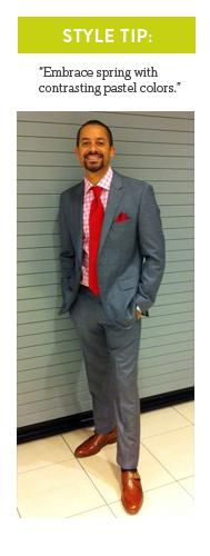 Men: Embrace Spring. Stylist Tip via Kelly Richeson, Nordstrom at the Oaks