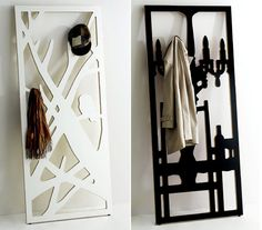 This is definitely worthy of displaying your hand knit scarves and shawls. - The Frame Hanger: A Coat Rack That Doubles as Art