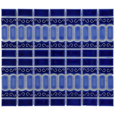 SomerTile 13.125x11.5-in Modena Cobalt Blue Porcelain Mosaic Tile (Pack of 10) - Overstock™ Shopping - Big Discounts on Somertile Wall Tiles