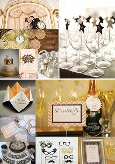 A New Years Eve Wedding - Decor & Styling Ideas | www.yesbabydaily.com
