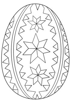 Ornate Easter Egg Coloring Page From Eggs Category Select 24795 Printable Crafts Of