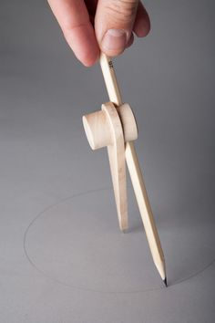 Rethinking the compass, uses pencil as second axis