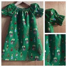 Grinch Christmas Nightgown, child size 5 by SewMeems on Etsy