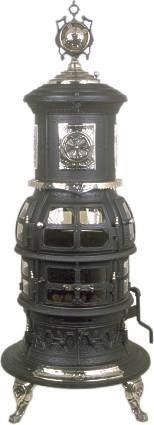 All Antique Stoves for Heating for sale : Bright Diamond Antique Coal Stove $4850