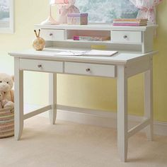 Naples Student Desk With Hutch (white)