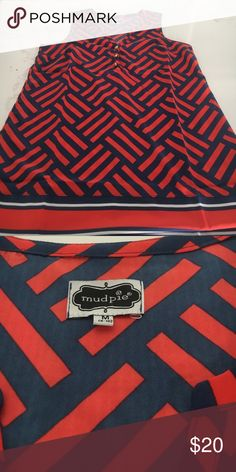 EUC Mudpie Red and Blue Shirt M Washed but never worn. NWOT perfect for the 4th Mudpie Tops Blouses