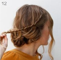 step by step hair up do