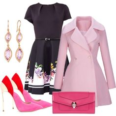 189 by vicinogiovanna on Polyvore featuring moda, Ted Baker, WithChic, Casadei, Bulgari and Carelle