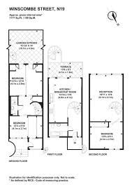 3 bedroom terraced house for sale in Winscombe Street, Dartmouth Park, London - Rightmove. Dartmouth Park, Property For Sale, Floor Plans, How To Plan, Architecture, Street, House, Thesis, Brown