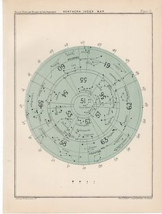 vintage star maps etsy antiqueprintstore