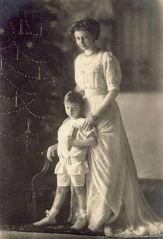VL with her nephew Prince Wilhelm of Prussia