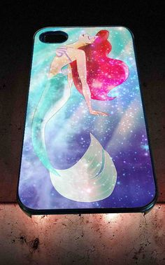 Ariel the little mermaid galaxy for iPhone 4/4s, iPhone 5/5S/5C/6, Samsung S3/S4/S5 Unique Case *76* - PHONECASELOVE