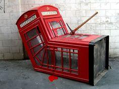 Banksy - Telephone Booth